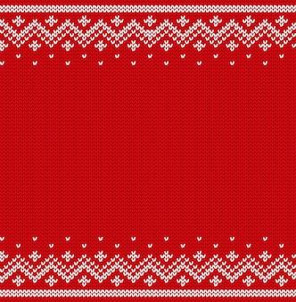 Nahtloses muster stricken. gestrickte weihnachtsbeschaffenheit. illustration.
