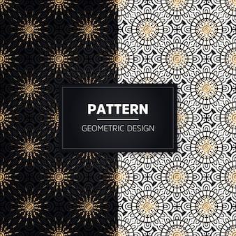 Nahtloses muster. vintage dekorative elemente. hand gezeichnete goldene ornamente.