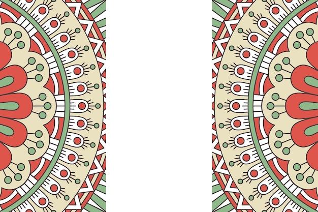Nahtloses muster. vintage dekorative elemente. hand gezeichneter hintergrund