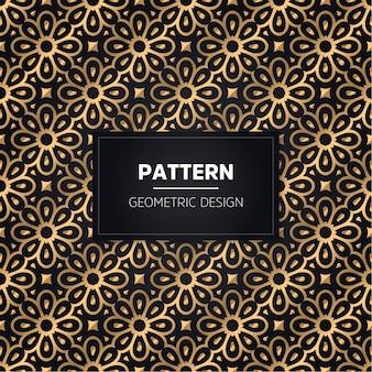 Nahtloses muster. vintage dekorative goldene zierde.