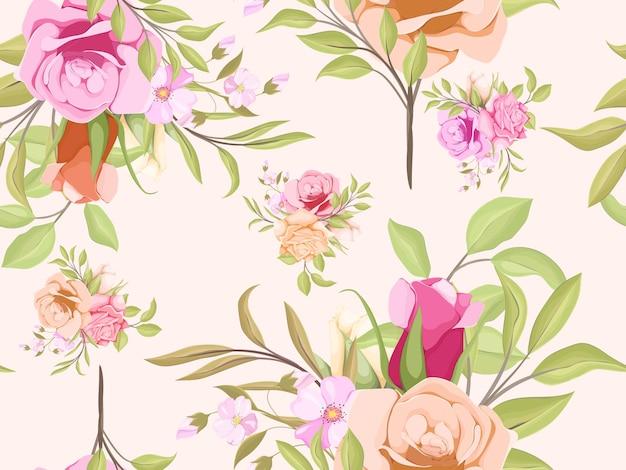 Nahtloses muster von aquarellblumen