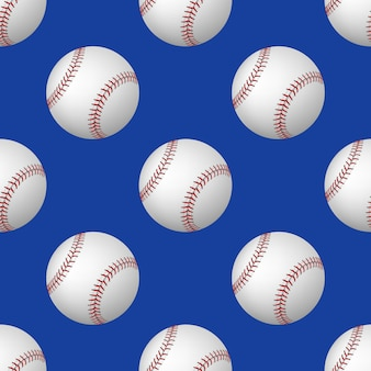 Nahtloses muster von baseballbällen