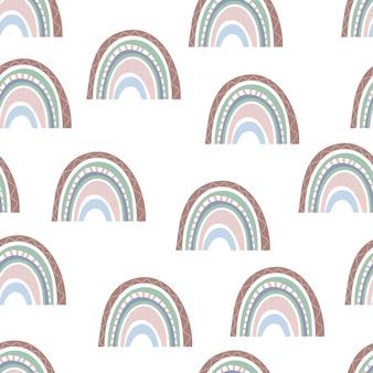 Nahtloses muster von bunten regenbogen