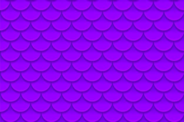 Nahtloses muster von bunten violetten purpurroten fischschuppen.