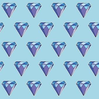 Nahtloses muster von diamanten,