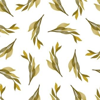 Nahtloses muster von gelben wildblumen für stoffdesign
