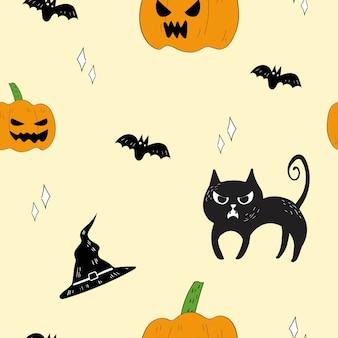 Nahtloses muster von halloween.
