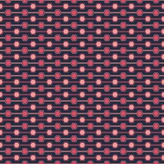 Nahtloses muster von hexagone