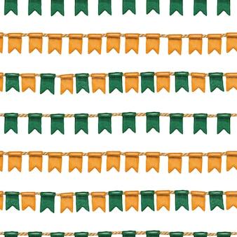 Nahtloses muster von iren färbt flaggen zu st patrick tagesfeier