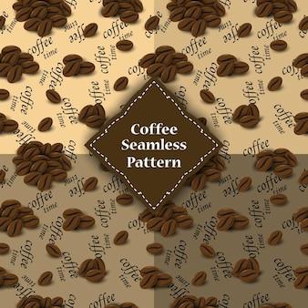 Nahtloses muster von kaffeebohnen für hülle.