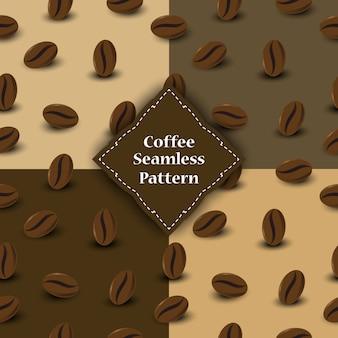 Nahtloses muster von kaffeebohnen für involucre