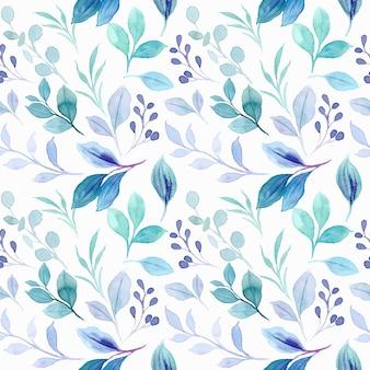 Nahtloses muster von pastellblättern mit aquarell