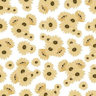 Nahtloses muster von sonnenblumen
