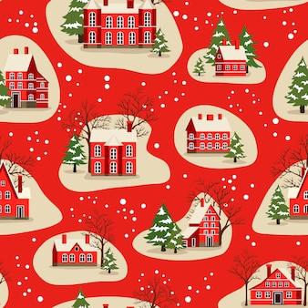 Nahtloses muster von weihnachten und neujahr