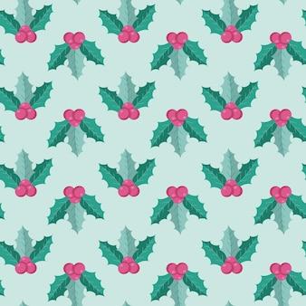 Nahtloses muster von weihnachtssymbolen im flachen stil isoliert auf weißem hintergrund