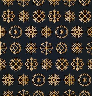 Nahtloses muster weihnachten oder neujahr. schneeflockentextur für grußkarten, plakatkonzepte oder festliche packung.