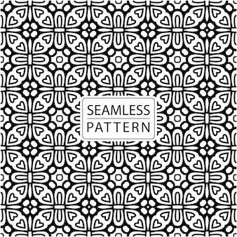 Nahtloses muster. zierfliesen im batikstil. traditionelles elegantes motiv