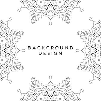 Nahtloses musterdesign der dekorativen luxusmandala