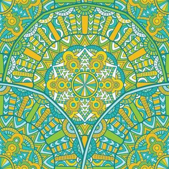 Nahtloses musterdesign der mandala für den druck. stammes-ornament.