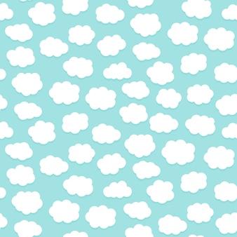 Nahtloses musterdesign der netten wolken