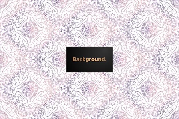 Nahtloses musterdesign des mandala-gradienten