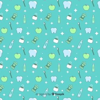 Nahtloses musterdesign für zahnmedizinische klinik