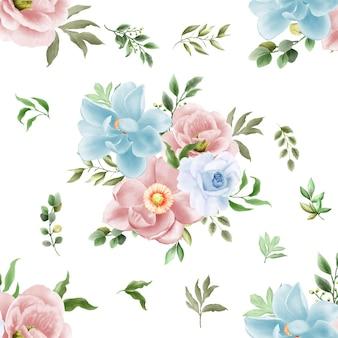 Nahtloses mustergrünblumenmuster