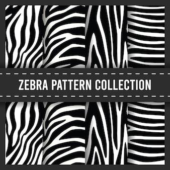 Nahtloses musterset mit zebrastreifen
