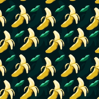 Nahtloses mustervektordesign der banane
