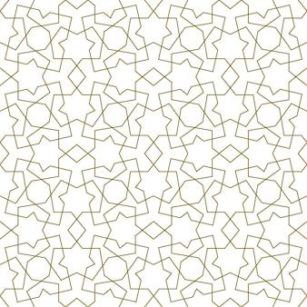 Nahtloses nahtloses muster basierend auf traditioneller islamischer kunst.