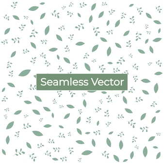 Nahtloses naturgrünmuster mit blatthintergrund premium-vektor