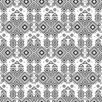 Nahtloses navajo-stammes-schwarzweiss-muster ethnischer vektorverzierung