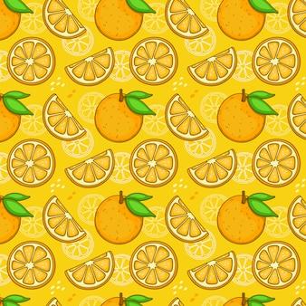Nahtloses orangenmuster