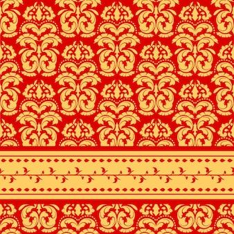 Nahtloses orientalisches dekoratives muster und beschaffenheit
