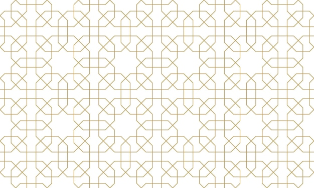 Nahtloses originalmuster im authentischen arabischen stil. vektor-illustration