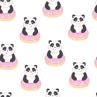 Nahtloses panda-muster