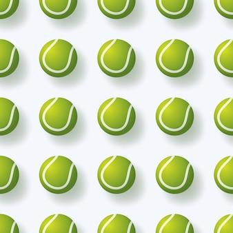 Nahtloses pettern der tennisballillustration realistisches nahtloses muster des tennisballs