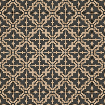 Nahtloses retro-musterhintergrundkurvensternkreuzrahmen-kaleidoskop des damastes.