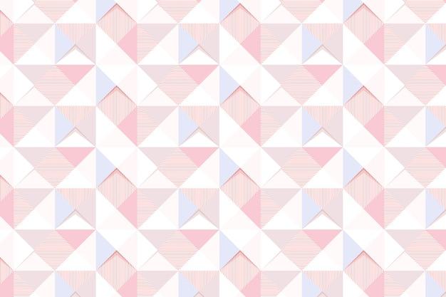 Nahtloses rosa geometrisches dreieck gemusterter hintergrunddesign-ressourcenvektor