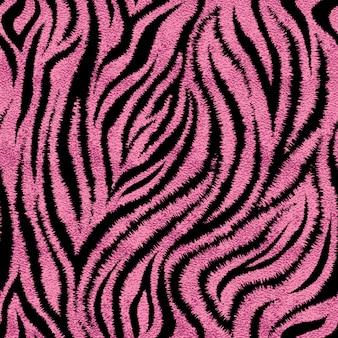 Nahtloses rosa zebrahautmuster. glamouröser zebrahautdruck