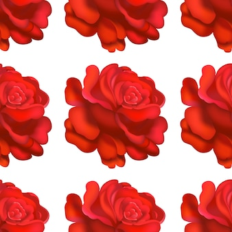 Nahtloses rotes rosenmuster.