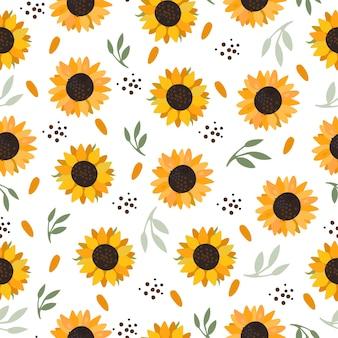 Nahtloses sonnenblumenmuster