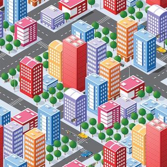 Nahtloses stadtplanmuster
