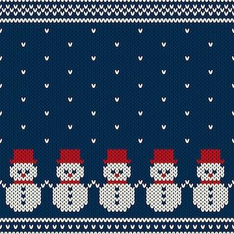 Nahtloses strickmuster der winterferien. nordischer pullover