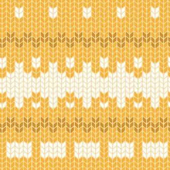 Nahtloses strickmuster gelb
