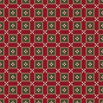 Nahtloses strickmuster im fair isle-stil. weihnachten nahtlose abstrakte strickpullover design.