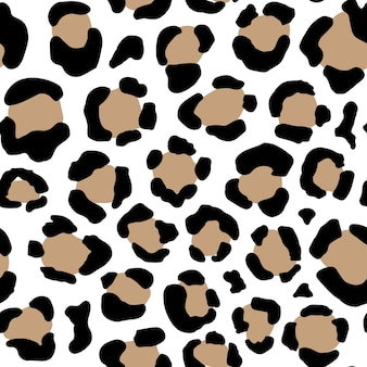 Nahtloses tiermuster mit leopardschmutzpunkten. kreative wilde textur für stoff, verpackung, textil, bekleidung. vektor-illustration
