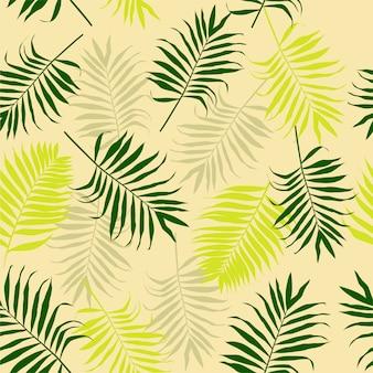 Nahtloses tropisches muster mit palmenblättern.