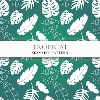 Nahtloses tropisches muster.