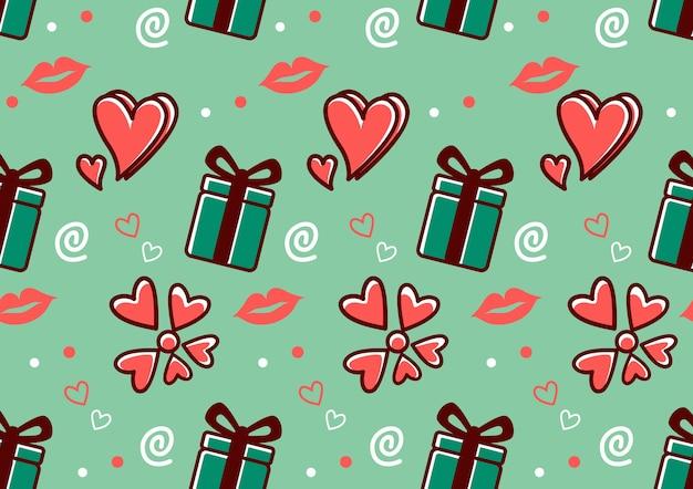 Nahtloses valentinsgrußmuster